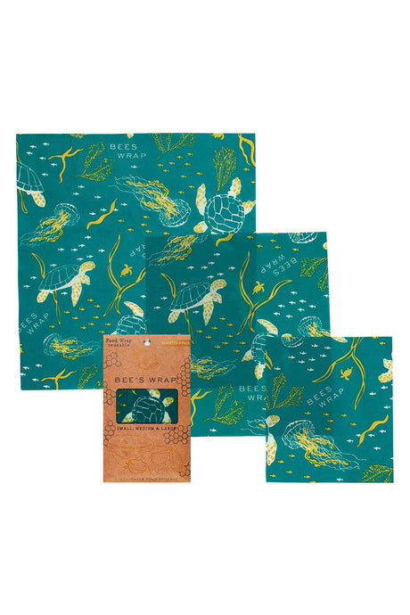 Beeswax Wrap 3 Pack - Ocean - Tigertree