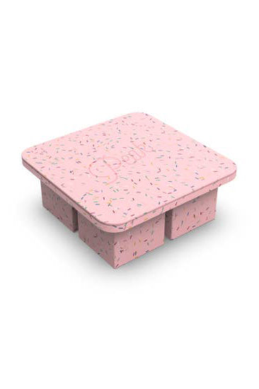 silicon ice cube tray pink sprinkle