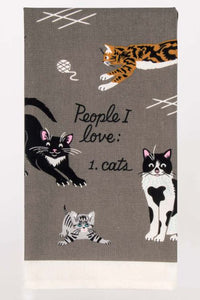 People I Love: Cats Dish Towel - Tigertree