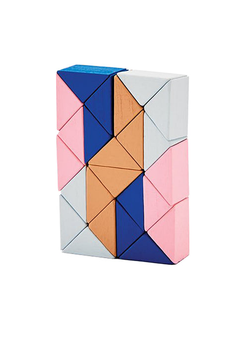 Snake Blocks Small - Pink/Beige - Tigertree