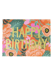 Poppy Birthday Card - Tigertree