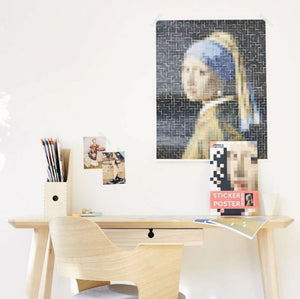 Vermeer Artwork Sticker Poster - Tigertree