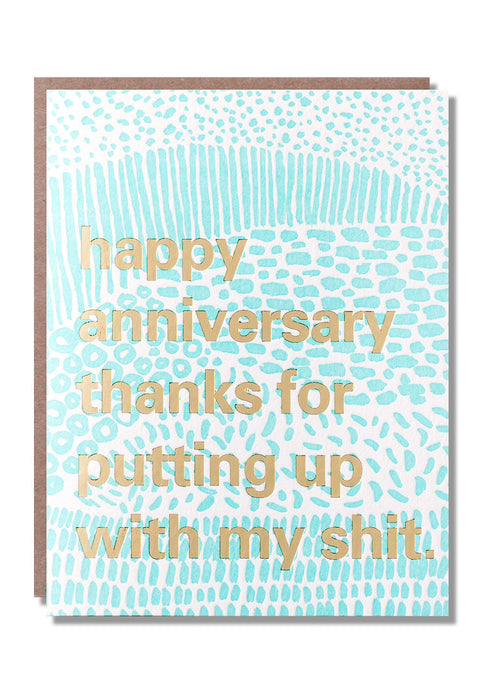 Put Up Anniversary Card - Tigertree
