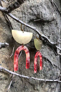 Arch Rose Duo Earrings - Tigertree