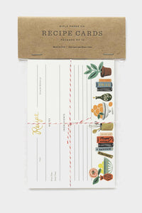 rifle paper co kitchen shelf recipe card