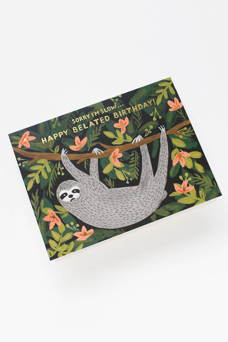 sloth birthday card rifle paper co