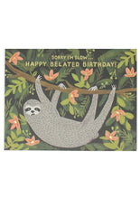 Load image into Gallery viewer, Sloth Belated Card - Tigertree