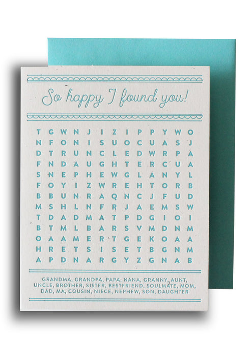 So Happy I Found You Card - Tigertree