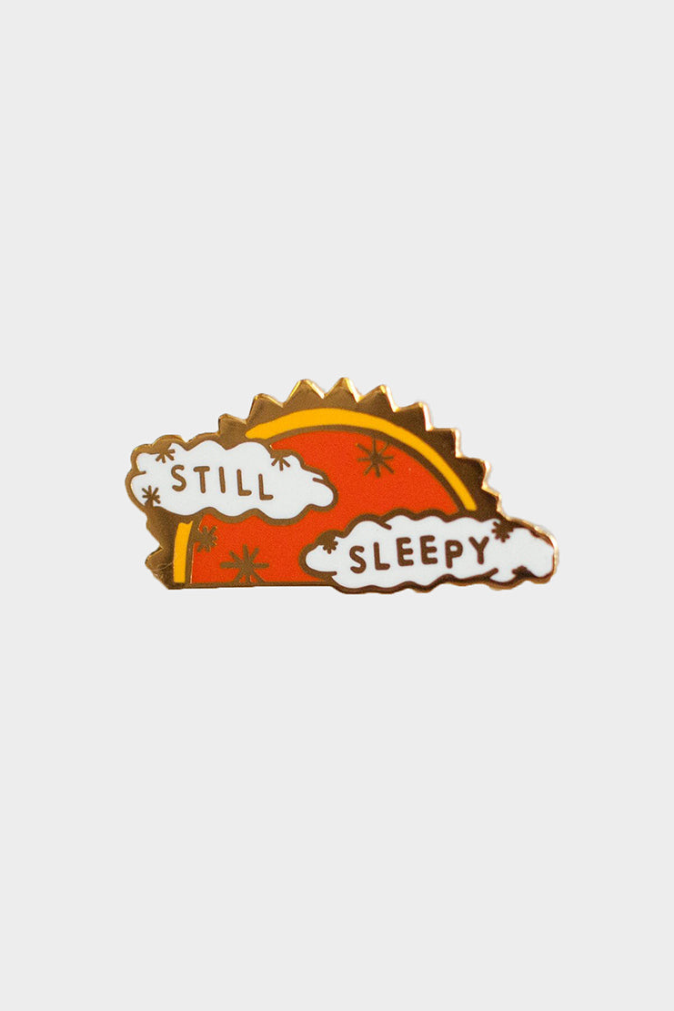 still sleepy lapel pin