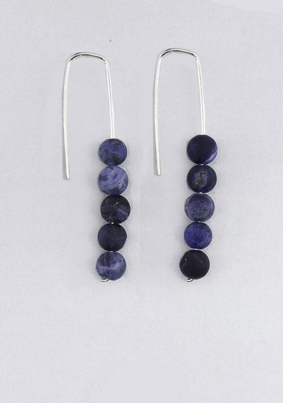 Stacked Sodalite Earrings - Tigertree