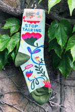 Load image into Gallery viewer, Women's Crew Socks Stop Talking - Tigertree
