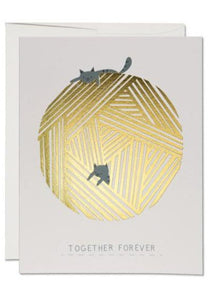 String Cats Together Forever Card - Tigertree