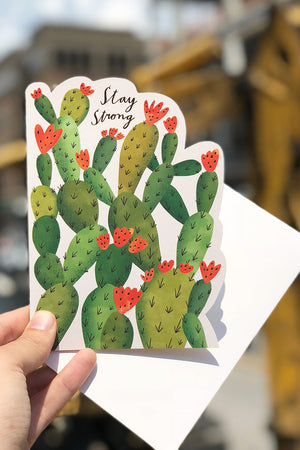 stay strong cactus card