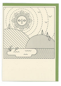 Sun Color-In Letterpress Card - Tigertree