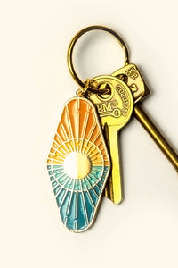 Sun & Sea Enamel Keychain - Tigertree