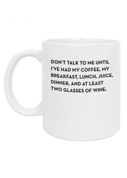 Don't Talk to Me Mug - Tigertree