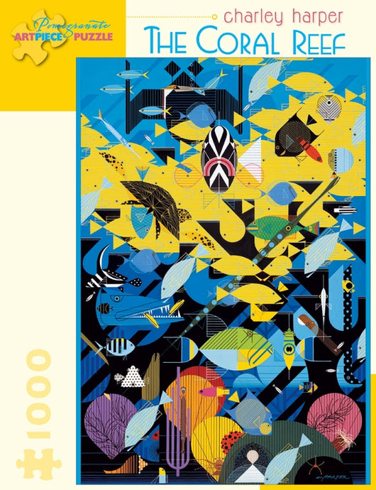 Charley Harper: The Coral Reef 1000-Piece Jigsaw Puzzle - Tigertree