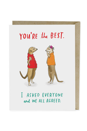 you're the best meerkat card from Emily McDowell