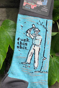 F This Shit Men's Socks - Tigertree