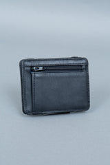 Rear zipper compartment magic wallet
