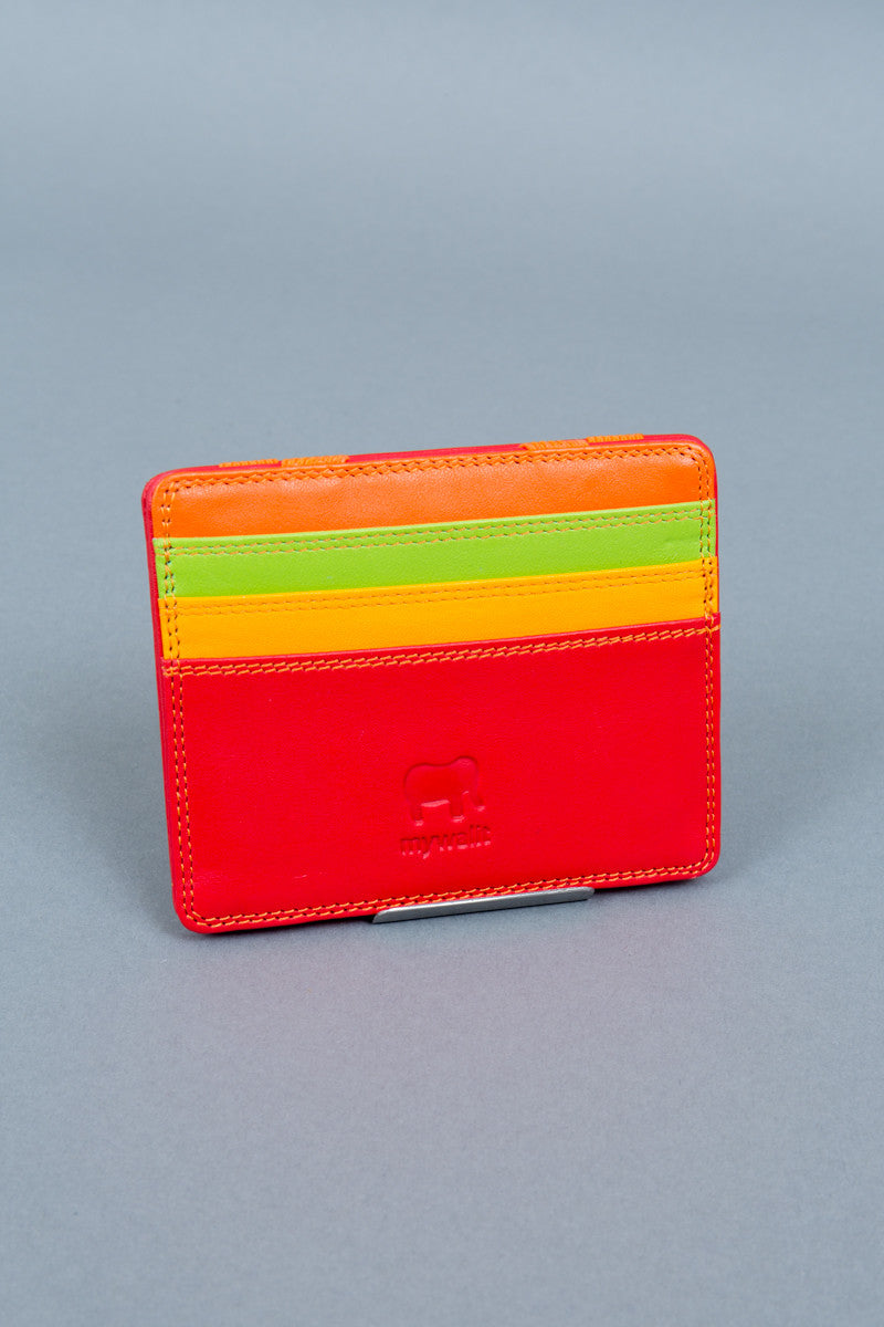 Red magic wallet front