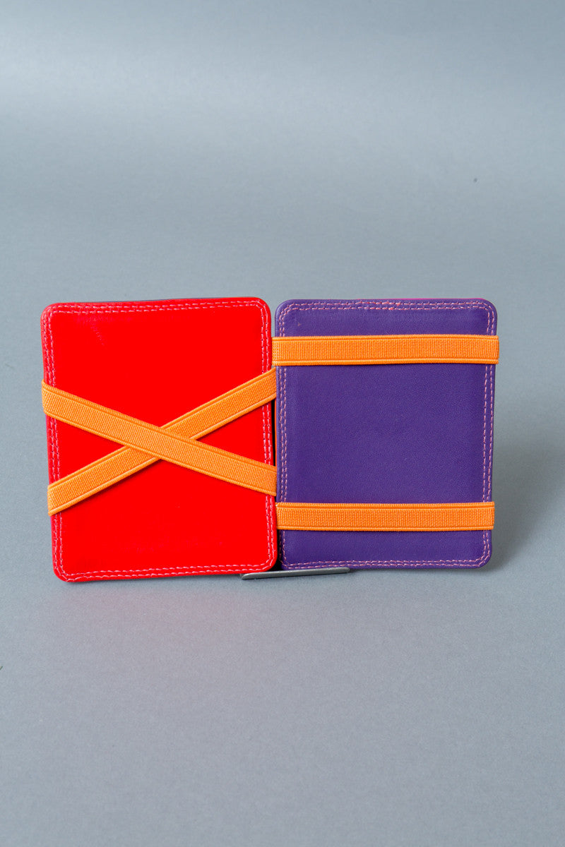 red and purple magic wallet