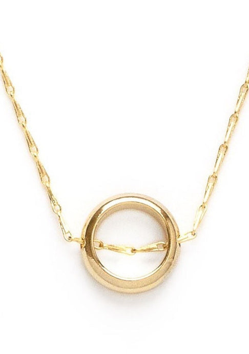 Tiny Gold Ring Necklace - Tigertree