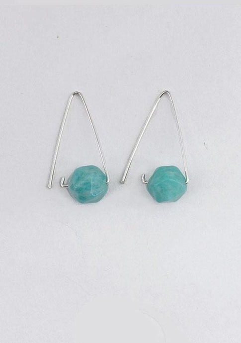 Triangle Amazonite Earrings - Tigertree