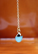 Load image into Gallery viewer, Lariat Aqua Jade Necklace