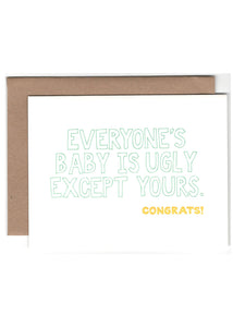Ugly Baby Card - Tigertree