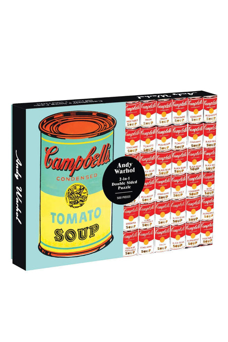 Double Sided Warhol Soup Can Puzzle - Tigertree