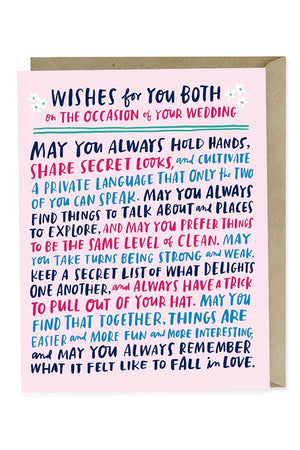 Wishes for Wedding Card