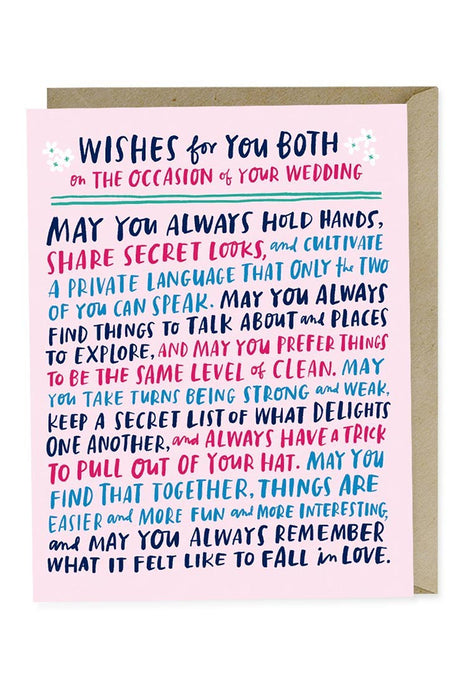 Wishes for Wedding Card - Tigertree