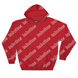 BADVIBESONLY® BADVIBES RED ALL OVER HOODIE (FRONT)