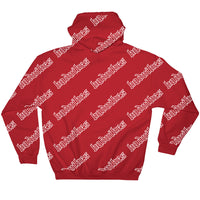 BADVIBESONLY® BADVIBES RED ALL OVER HOODIE (BACK)