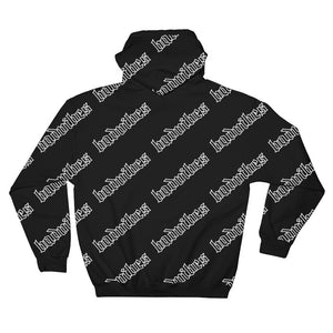 BADVIBESONLY® BADVIBES BLACK ALL OVER HOODIE (BACK)
