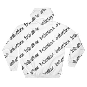 BADVIBESONLY® BADVIBES WHITE ALL OVER HOODIE (BACK)