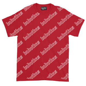 BADVIBESONLY® BADVIBES RED ALL OVER T-SHIRT (FRONT)