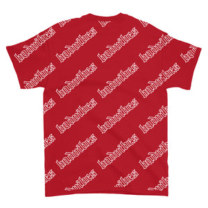 BADVIBESONLY® BADVIBES RED ALL OVER T-SHIRT (BACK)