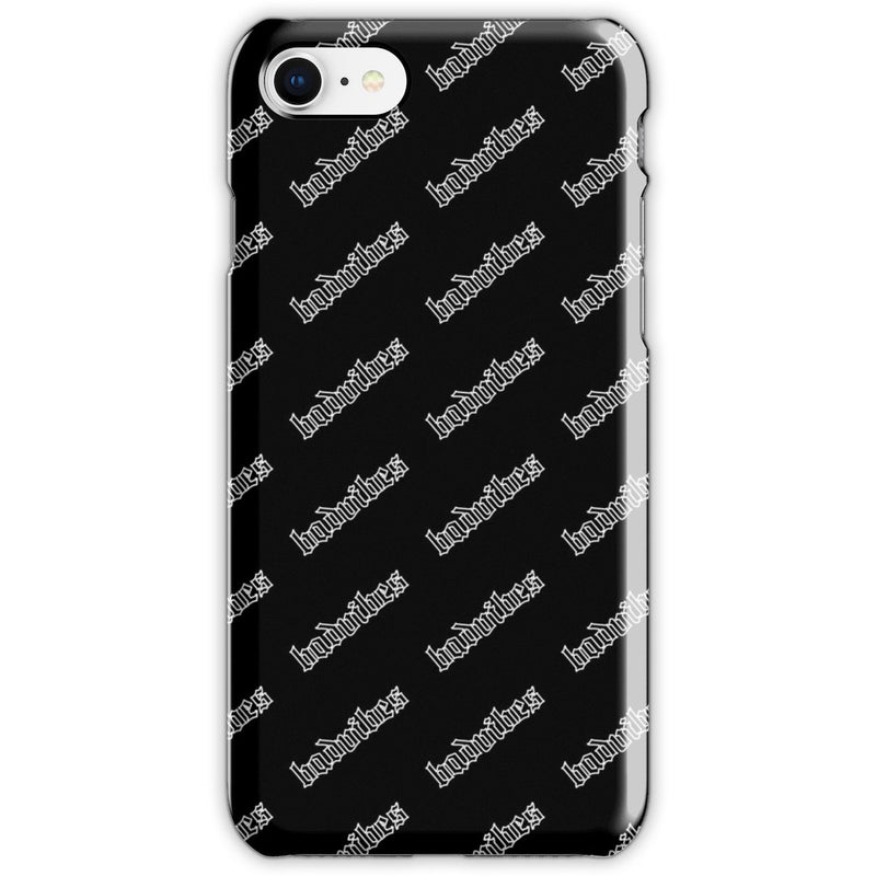 BADVIBESONLY® BADVIBES BLACK ALL OVER IPHONE 8 CASE (FRONT)