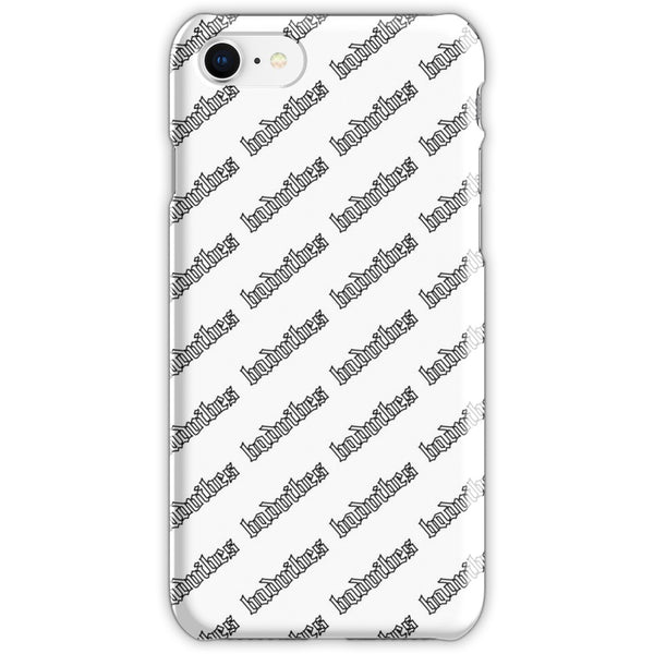 BADVIBESONLY® BADVIBES WHITE ALL OVER IPHONE 8 CASE (FRONT)