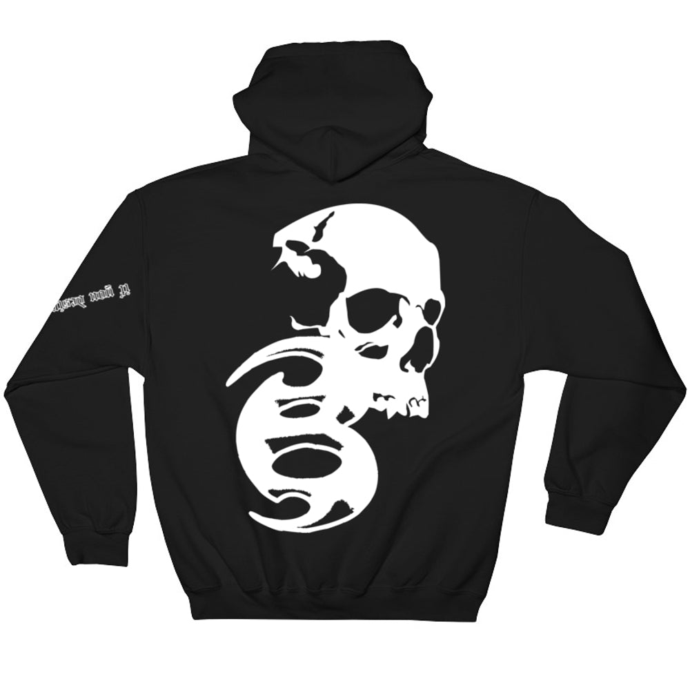 BADVIBESONLY® BLACK/WHITE CHAOS HOODIE (BACK)