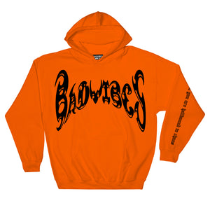BADVIBESONLY® ORANGE CHAOS HOODIE (FRONT)