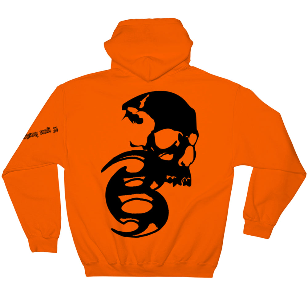BADVIBESONLY® ORANGE CHAOS HOODIE (BACK)