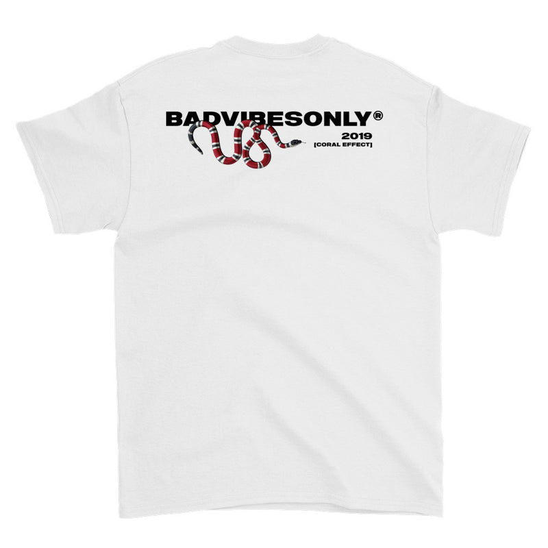 BADVIBESONLY® WHITE CORAL EFFECT T-SHIRT (BLACK)