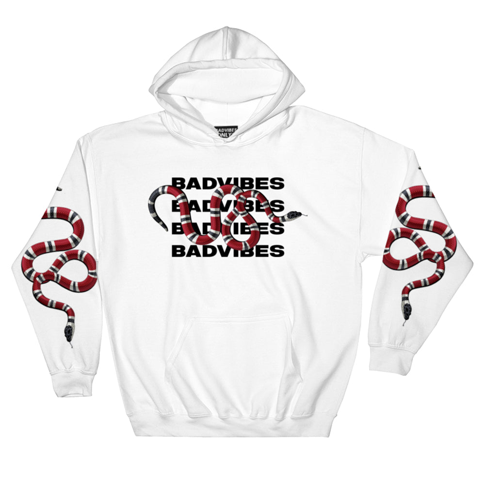 BADVIBESONLY® WHITE CORAL EFFECT HOODIE (FRONT)