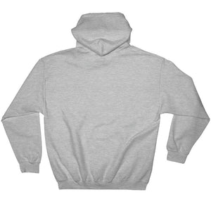 BADVIBESONLY® DEVIL EMBROIDERED HEATHER GREY HOODIE (BACK)