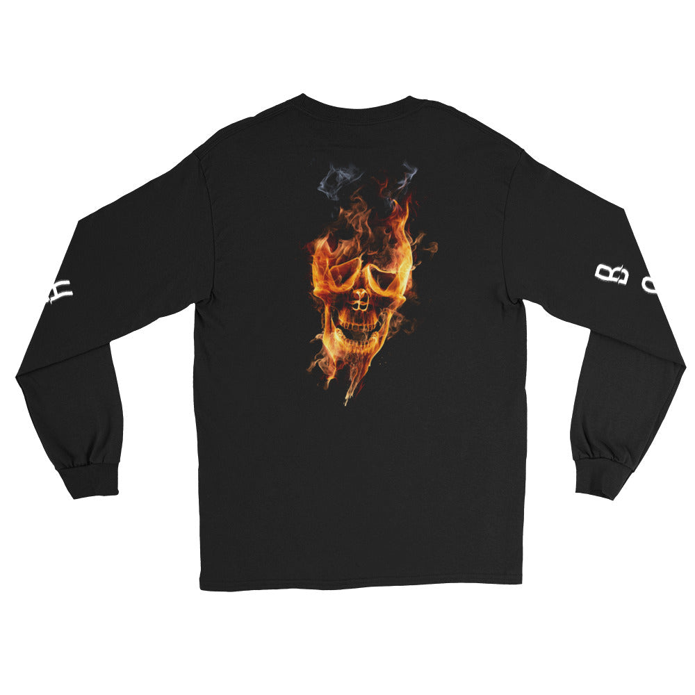 BADVIBESONLY® HELLBOUND LONG SLEEVE T-SHIRT (BACK)
