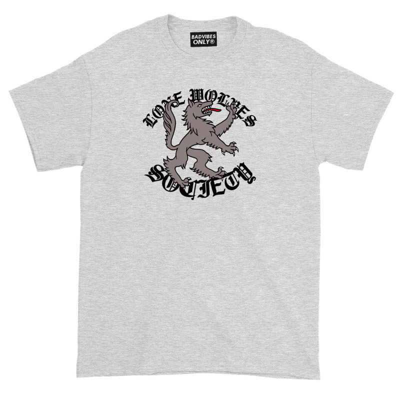BADVIBESONLY® LONE WOLVES SOCIETY T-SHIRT (FRONT)