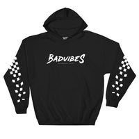 BADVIBESONLY® MOTORSPORT 2019® BLACK HOODIE (FRONT)